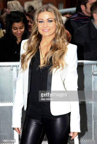 Carmen Electra attends the Britain's Got Talent London auditions at HMV Hammersmith Apollo on February 6 2012 in London England