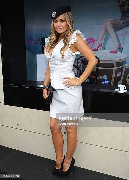 Carmen Electra attends the Lavazza marquee during Crown Oaks Day at Flemington Racecourse on November 4, 2010 in Melbourne, Australia.