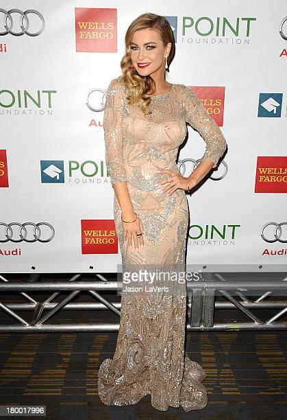 Carmen Electra attends the Voices On Point musical gala to benefit the Point Foundation at the Hyatt Regency Century Plaza on September 7 2013 in...