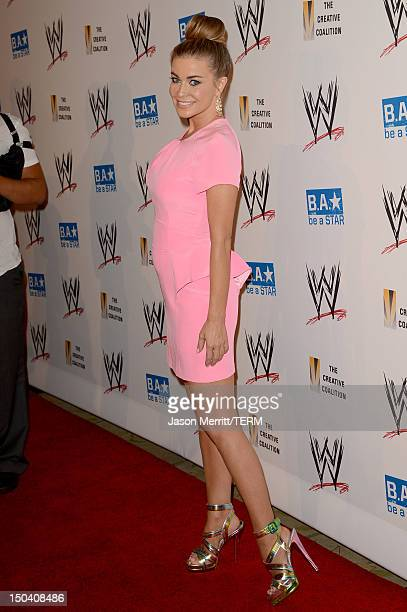 Carmen Electra attends the WWE SummerSlam VIP Kick-Off Party at Beverly Hills Hotel on August 16, 2012 in Beverly Hills, California.