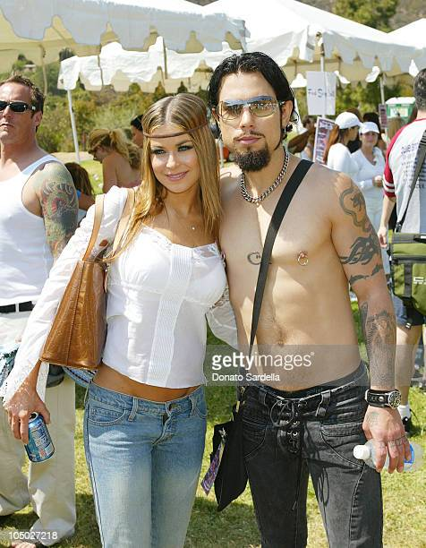 Carmen Electra Dave Navarro during Frankie B Fashion Show Event at Lake Hollywood Park at Lake Hollywood Park in Los Angeles California United States