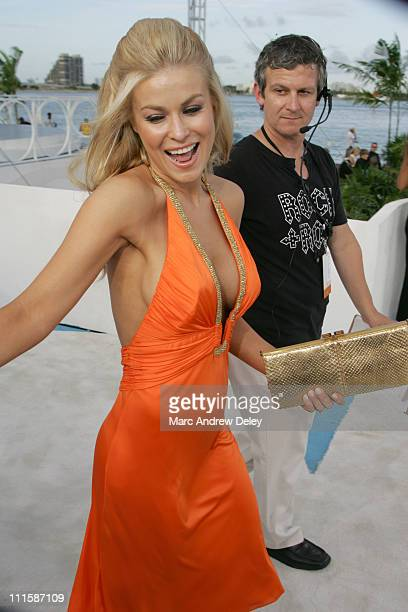 Carmen Electra during 2005 MTV Video Music Awards Arrivals at American Airlines Arena in Miami Florida United States