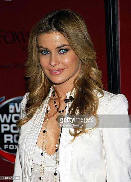 Carmen Electra during Carmen Electra Deals Ceremonial First Hand at Grand Opening of Foxwoods Resort Casino's New World Poker Tour Branded Poker Room...