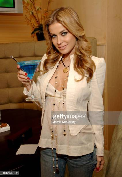 Carmen Electra during Carmen Electra Enjoys Foxwoods Resort's Signature $3000 Sapphire Martini at The Mezz Ultra Lounge March 23 2006 at The Mezz...