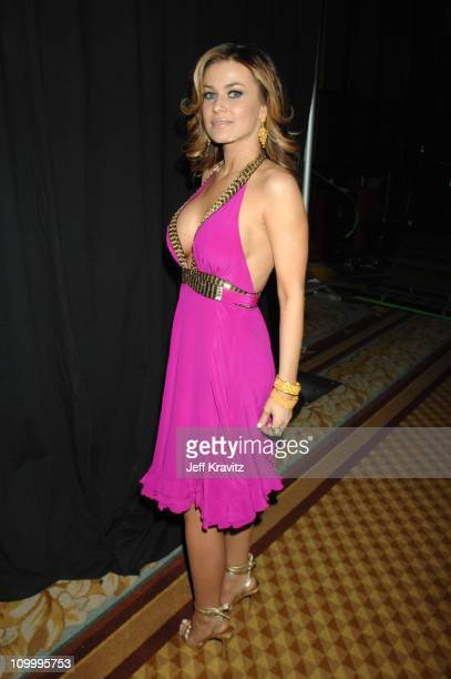 Carmen Electra during HBO AEG Live's The Comedy Festival A Salute to the Troops and USO Backstage at Caesars Palace in Las Vegas Nevada United States