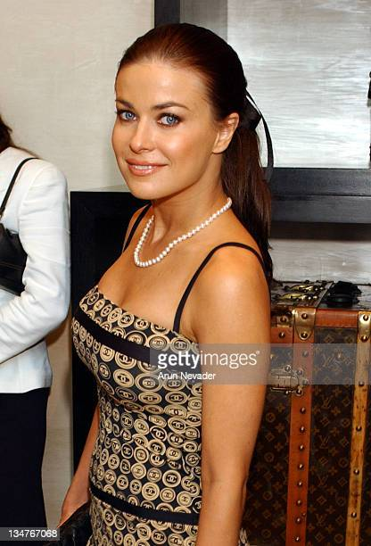 Carmen Electra during Louis Vuitton Hosts KickOff for Project Angel Food's Divine Design 2003 at Louis Vuitton in Beverly Hills California United...