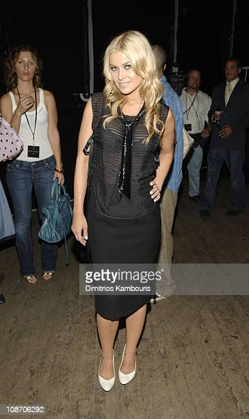 Carmen Electra during Olympus Fashion Week Spring 2006 - Marc Jacobs - Front Row and Backstage at N.Y. State Armory in New York City, New York,...