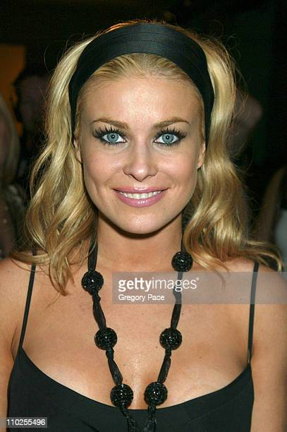 Carmen Electra during Olympus Fashion Week Spring 2006 Narciso Rodriguez Front Row at Exit Art in New York City New York United States