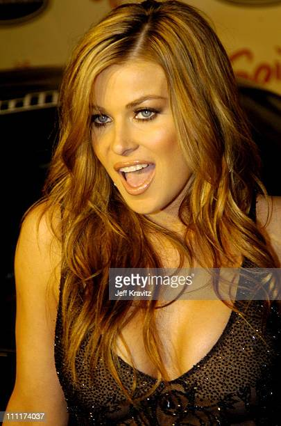 Carmen Electra during Spike TV's 1st Annual Autorox Awards Arrivals at Barker Hanger in Santa Monica California United States