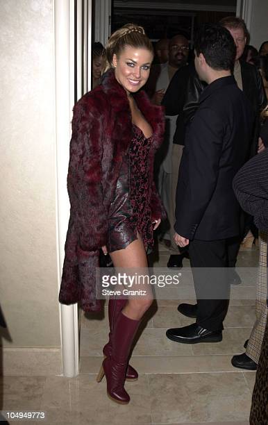 Carmen Electra during The 28th Annual American Music Awards Arista Records After Party at St Regis Hotel in Century City California United States