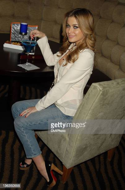 Carmen Electra during The Ceremonial First Hand to Celebrate Foxwoods Resort Casino's New World Poker Tour Branded Poker Room at Foxwoods Casino in...