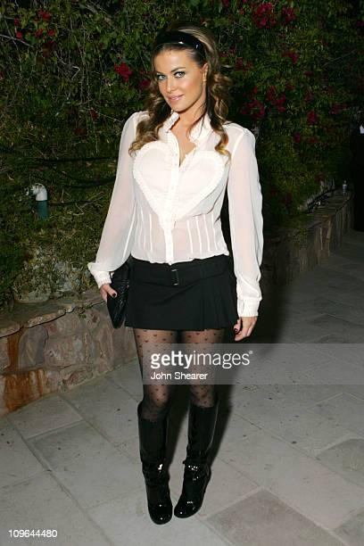 Carmen Electra during Viktor Rolf Celebrates The Launch of Their Collection for HM Red Carpet at Private Residence in BelAir California United States