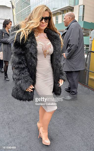 Carmen Electra is seen Around Lincoln Center Day 6 Fall 2013 MercedesBenz Fashion Week at Lincoln Center for the Performing Arts on February 12 2013...