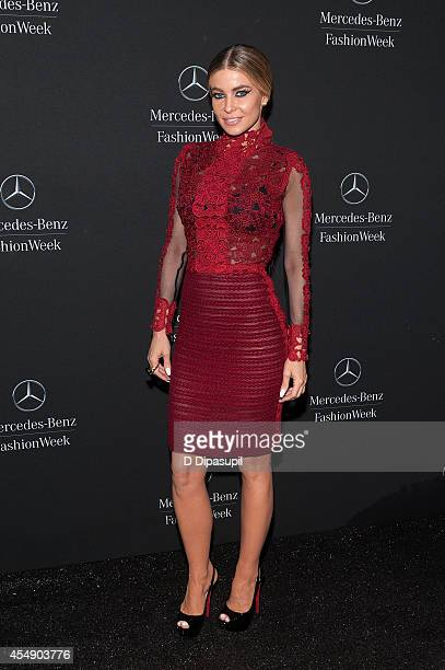 Carmen Electra is seen during MercedesBenz Fashion Week Spring 2015 at Lincoln Center for the Performing Arts on September 7 2014 in New York City