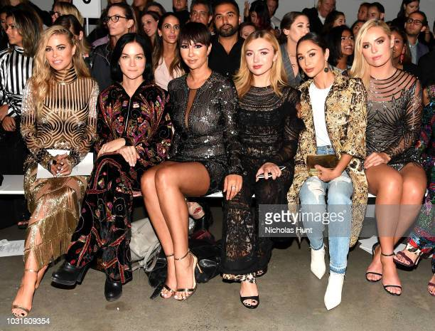 Carmen Electra Leigh Lezark Jackie Cruz Peyton List and Cara Santana attends the Naeem Khan front Row during New York Fashion Week The Shows at...
