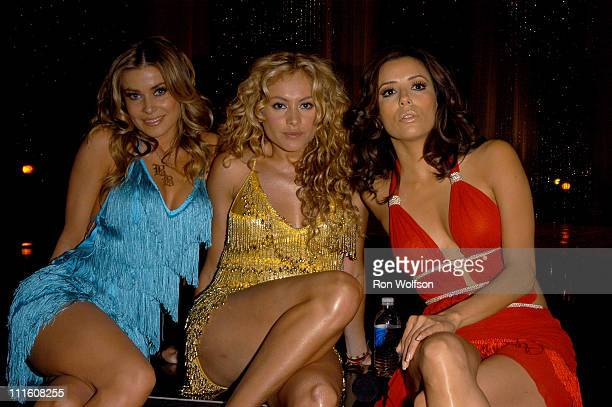 Carmen Electra Paulina Rubio and Eva Longoria during 2006 NCLR ALMA Awards Rehearsals at Shrine Auditorium in Los Angeles California United States
