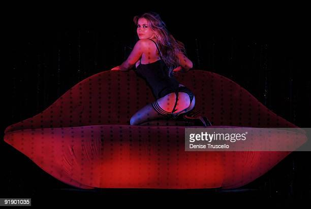 Carmen Electra performs in MGM Grand's Crazy Horse Paris at the MGM Grand Hotel and Casino Resort on October 14 2009 in Las Vegas Nevada