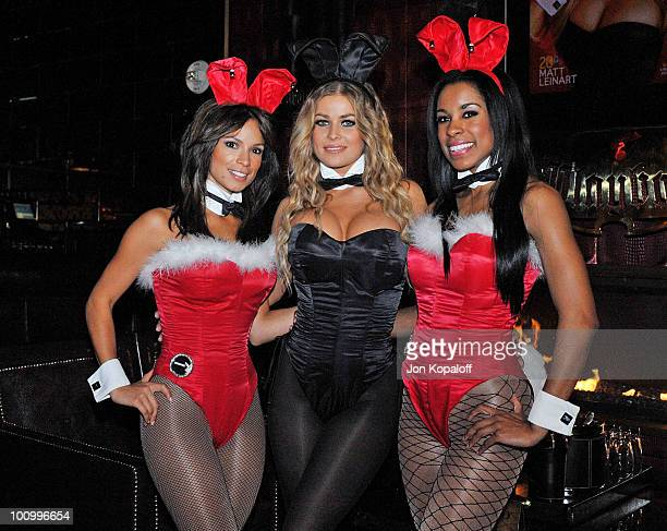 Carmen Electra plays Celebrity Bunny Dealer at the Playboy Club at The Palms Hotel on December 13 2008 in Las Vegas Nevada