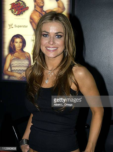 Carmen Electra the spokesperson for Battlebots signed autographs for eager fans Exhibitors display their latest products with elaborate displays on...