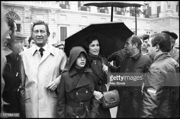 Carmen Franco 1st Duchess of Franco and daughter of Spanish dictator General Francisco Franco with her husband Cristobal MartinezBordiu 10th Marquis...