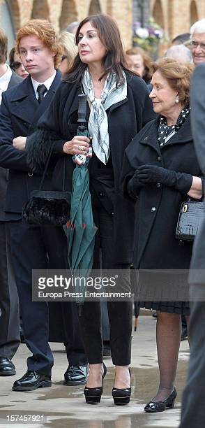 Carmen Franco and Carmen Martinez Bordiu attend the funeral and burial for Baron of Alacuas Federico Trenor y Trenor on November 6 2012 in Valencia...