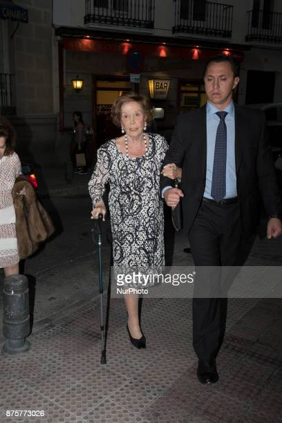 Carmen Franco attends the inauguration of the opera at the zarzuela theater in Madrid Spain November 18 2017