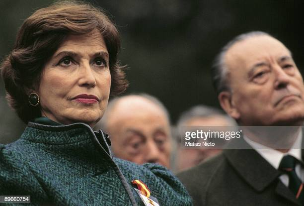 Carmen Franco daughter of the general Francisco Franco With the FN politician Blas Pinar