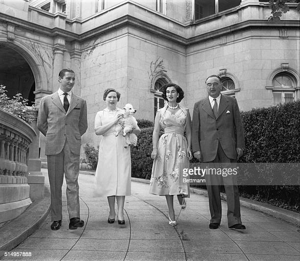 Carmen Franco Polo Marquesa De Villaverde and only daughter of Spain's Generalissimo Francisco Franco walks through the Spanish Embassy in Washington...