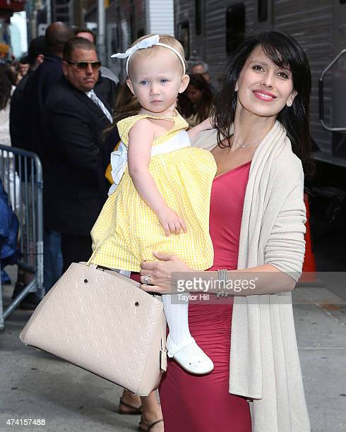 """Carmen Gabriela Baldwin and Hilaria Baldwin attend """"Late Show with David Letterman"""" at Ed Sullivan Theater on May 20, 2015 in New York City."""