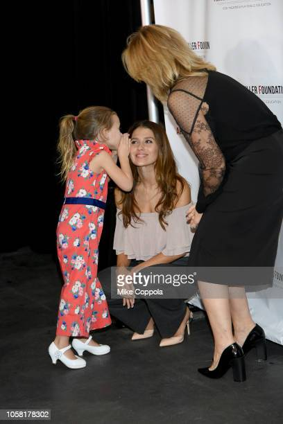 Carmen Gabriela Baldwin Hilaria Baldwin and Edie Falco attend the 2018 Arthur Miller Foundation Honors at City Winery on October 22 2018 in New York...