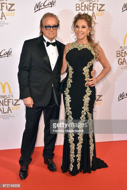 Carmen Geiss and her husband Robert Geiss during the McDonald's charity gala at Hotel Bayerischer Hof on November 10 2017 in Munich Germany
