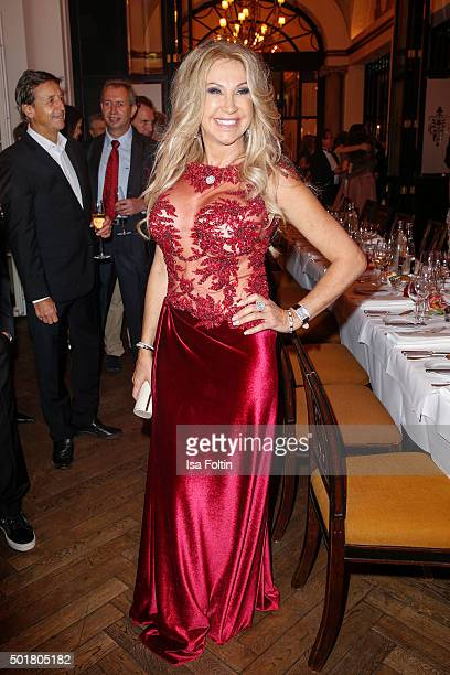 Carmen Geiss attends the Wedding of Jack White and Rafaella Slyusareva on December 17 2015 in Berlin Germany