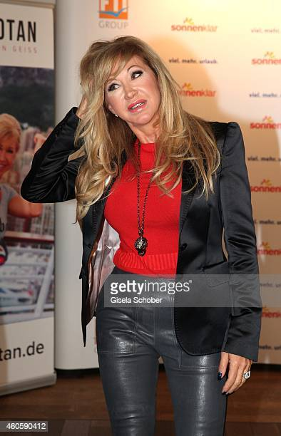 Carmen Geiss during the presentation of the online fitness and nutrition program 'Kibootan' on December 17 2014 in Munich Germany