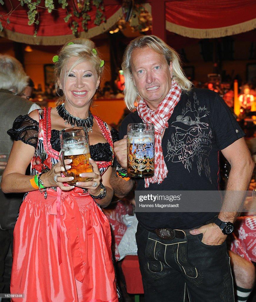 Carmen Geissen and Robert Geissen attends the Oktoberfest beer festival at Hippodrom on September 22, 2012 in Munich, Germany.