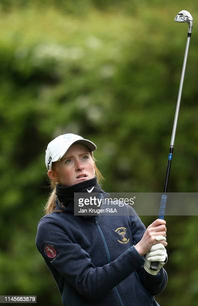 Carmen Griffiths of Aboyne in action during the final round of the RA Girls U16 Amateur Championship at Fulford Golf Club on April 28 2019 in York...