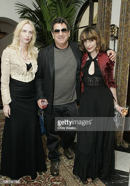 Carmen Hawk Larry Leight and Milla Jovovich during Oliver Peoples Tracey Ross JovovichHawk and Richemont 2007 Oscar Luncheon at Private Residence in...