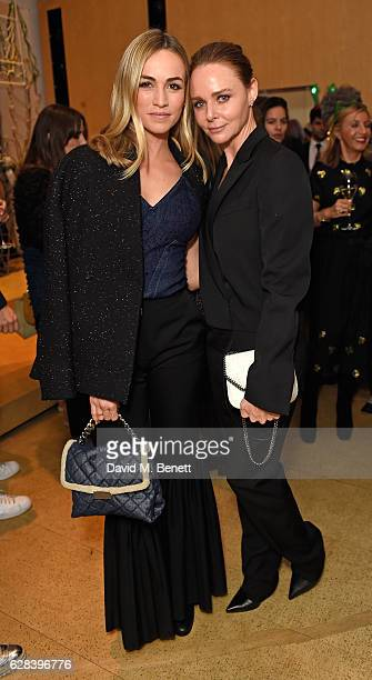 Carmen Jord‡ and Stella McCartney attend the Stella McCartney Christmas Lights switch on at the Stella McCartney Bruton Street Store on December 7...