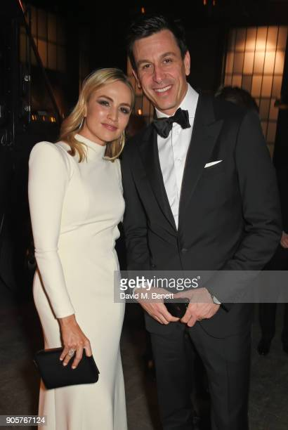Carmen Jorda and Toto Wolff attend the IWC Schaffhausen Gala celebrating the Maison's 150th anniversary and the launch of its Jubilee Collection at...