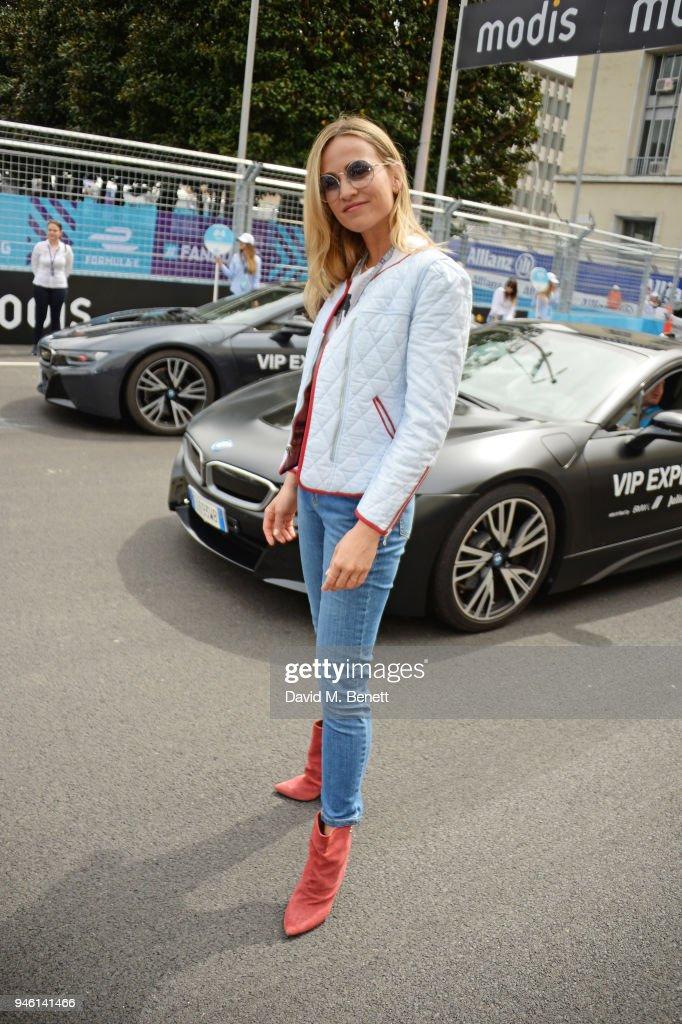 Carmen Jorda attends the ABB FIA Formula E CBMM Niobium Rome E-Prix 2018 on April 14, 2018 in Rome, .