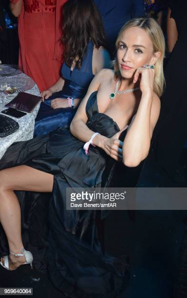 Carmen Jorda attends the amfAR Gala Cannes 2018 dinner at Hotel du CapEdenRoc on May 17 2018 in Cap d'Antibes France