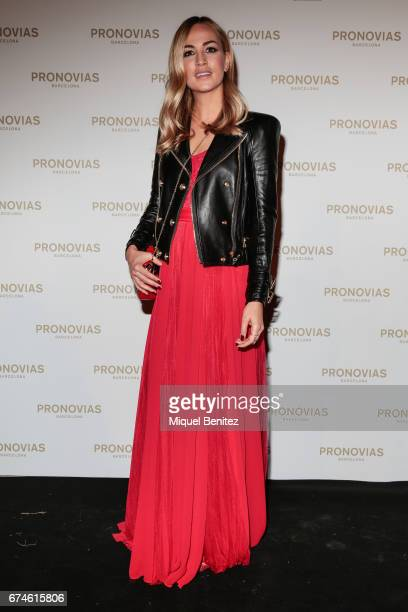 Carmen Jorda attends the Pronovias Show during Barcelona Bridal Fashion Week 2017 held at the Museu Nacional d'Art de Catalunya on April 28 2017 in...