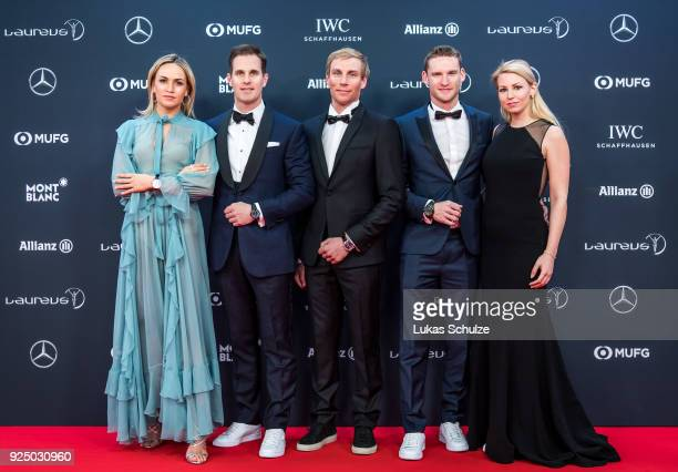 Carmen Jorda Christoph GraingerHerr CEO of IWC Schaffhausen Richard Permin Maro Engel and Stefanie Engel attend the 2018 Laureus World Sports Awards...