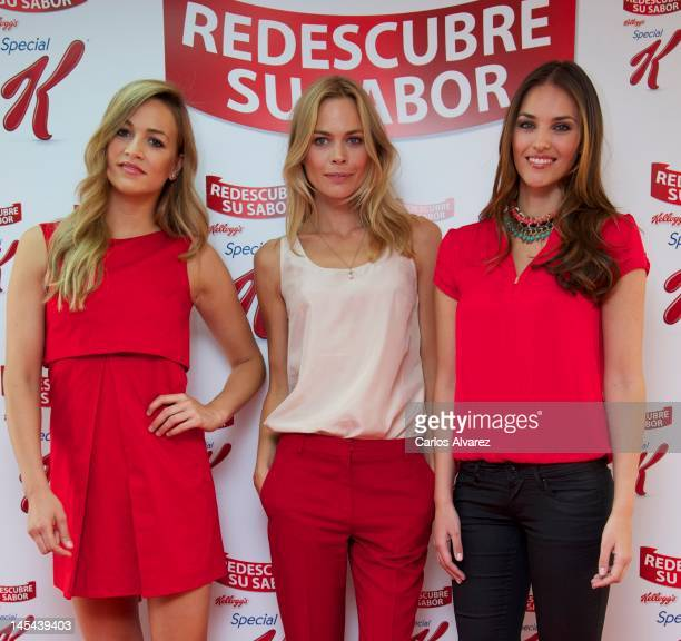 Carmen Jorda Veronica Blume and Helen Lindes attend Special K event at Circulo de Bellas Artes on May 30 2012 in Madrid Spain