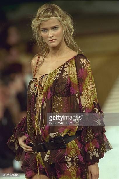 Carmen Kaas on the fashion show