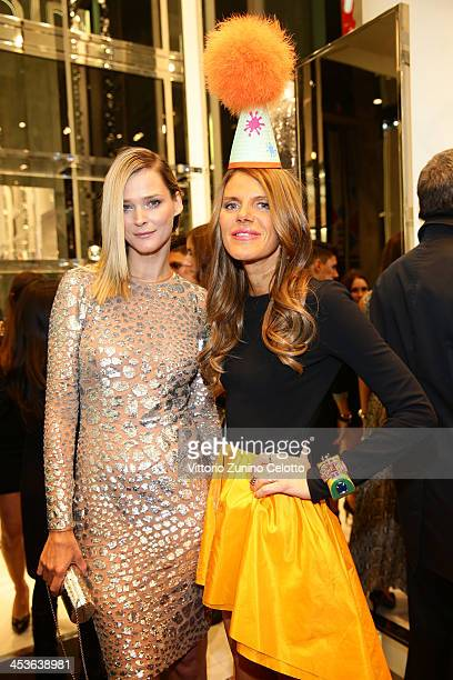 Carmen Kass and Anna Dello Russo attend Michael Kors To celebrate Milano opening on December 4 2013 in Milan Italy