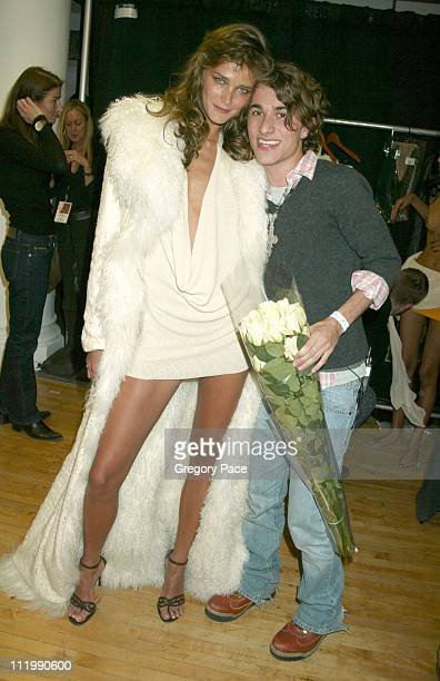 Carmen Kass and Esteban Cortazar backstage after the show