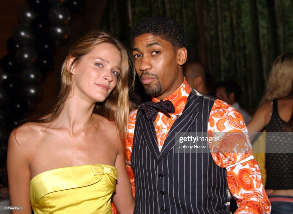 Carmen Kass and Fonzworth Bentley during Butter's Two Year Anniversary at Butter in New York City, New York, United States.