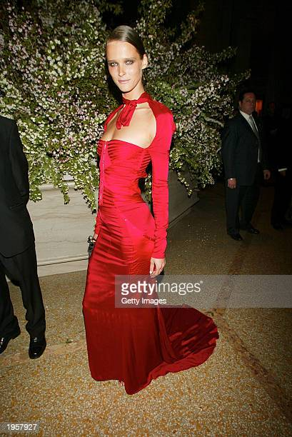 Carmen Kass attends the Costume Institute Benefit Gala sponsored by Gucci April 28 2003 at The Metropolitan Museum of Art in New York City