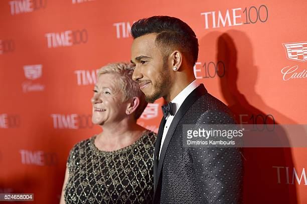 Carmen Larbalestier and Formula One racing driver Lewis Hamilton attend 2016 Time 100 Gala Time's Most Influential People In The World red carpet at...