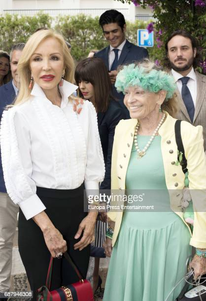 Carmen Lomana and Beatrice von HardenbergFürstenberg attend the Christening of Flavia Porras daughter of Olivia de Borbon and Julian Porras at...